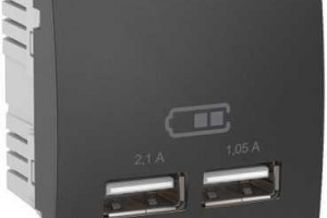 Новые USB-розетки повышенной мощности от Schneider Electric и Merten