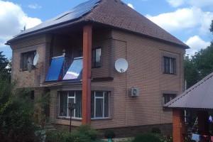 Гелиосистема (300 л) + гибридная солнечная электростанция (10 кВт), с. Борки, июнь 2017