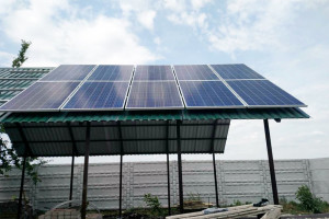 Cетевая солнечная электростанция 30 кВт, с. Дудковка, июнь 2017 г.