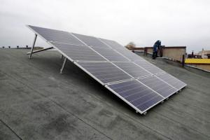 Система автономного освещения территории на солнечных панелях, 5 кВт, Харьковский плиточный завод