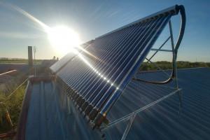 Солнечный коллектор на 700 л горячей воды в Волчанске, Харьковская область