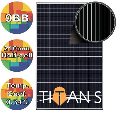 Солнечная батарея 400Вт моно, RSM40-8-400M Risen 9BB TITAN S BLACK FRAME