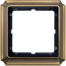 Рамка 1-модульная Merten Antique. Цвет Античная латунь MTN483143