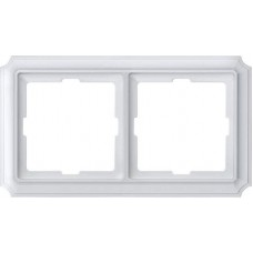 Рамка 2 поста Merten Antique. Цвет Полярно-белый MTN483219