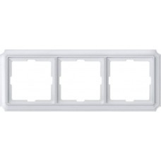 Рамка 3 поста Merten Antique. Цвет Полярно-белый MTN483319