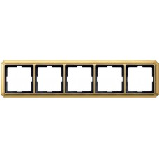Рамка 5 постовая Merten Antique. Цвет Блестящая латунь MTN483521