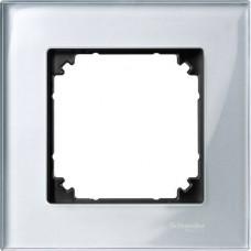 Рамка 1-постовая Merten M-Elegance Стекло. Цвет Алмаз MTN4010-3260