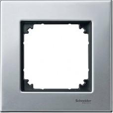 Рамка 1-постовая Merten M-Elegance Металл. Цвет Платина-серебро MTN403160
