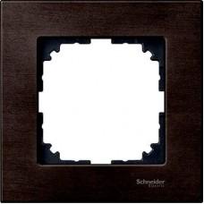 Рамка 1-постовая Merten M-Elegance Дерево. Цвет Венге MTN4051-3471