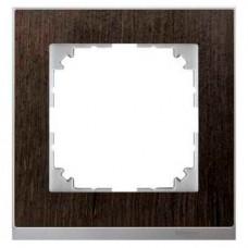 Рамка 1-постовая Merten M-Pure Decor. Цвет Венге/Цвет алюминия MTN4010-3671 MTN4010-3671