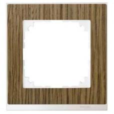 Рамка 1-постовая Merten M-Pure Decor. Цвет Дуб/Брил. белый MTN4010-3674
