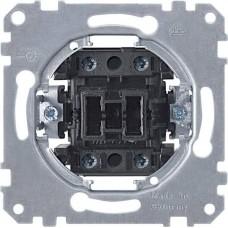 MTN311201 Механизм 1-клавишного клавишного выключателя Merten System M, 2 полюса, 20А