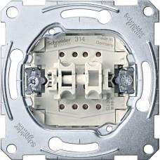 MTN3115-0000 2-клавишный механизм выключателя Merten System M, 1 полюс, 10А