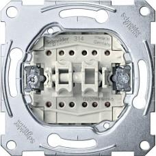 2-клавишный механизм кнопочного переключателя с замыкающим контактом на два направления Merten System M, 1 полюс, 10А