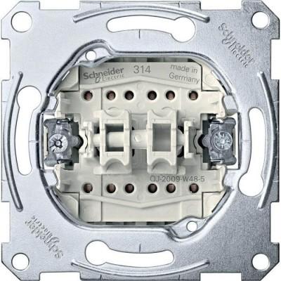 MTN3626-0000 2-клавишный механизм выключателя на два направления Merten System M, 1 полюс, 16А