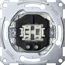 MTN3135-0000 2-клавишный механизм выключателя с подсветкой Merten System M, 1 полюс, 10А
