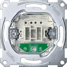 MTN3136-0000 Механизм 1-клавишного переключателя с подсветкой Merten System M, 1 полюс, 10А