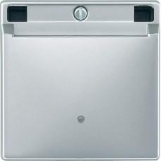 Выключатель с карточкой-ключом Merten System M. Цвет Алюминий, MTN315460