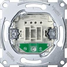 MTN3160-0000 Механизм 1-клавишного кнопочного выключателя с подсветкой Merten System M, 1 полюс, 10А