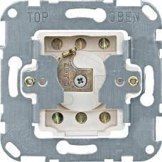 Механизм кнопочного выключателя с фиксатором положения для рольставней, для замочного цилиндра Merten, 2 полюса, 10А