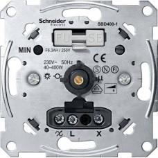 Механизм универсального поворотного светорегулятора с выключателем для активной нагрузки Merten System M, 40-400 Вт
