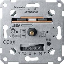 MTN5135-0000 Механизм универсального поворотного светорегулятора для индуктивной нагрузки Merten System M, 60-1000Вт/ВA
