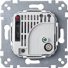 MTN536302 Механизм терморегулятора c выключателем Merten System M, 10(4)А, 230В