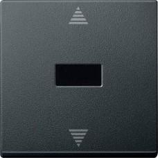 MTN586414 Кнопочный выключатель для жалюзи с ИК-приемником и подключением датчика Merten System M. Цвет Антрацит
