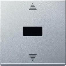 MTN586460 Кнопочный выключатель для жалюзи с ИК-приемником и подключением датчика Merten System M. Цвет Алюминий