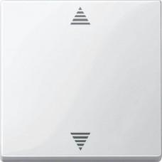 Кнопочный выключатель для жалюзи с функцией памяти и с подключением датчика Merten System M. Цвет Полярно-белый