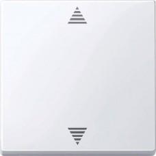 Кнопочный выключатель для жалюзи с функцией памяти и с подключением датчика Merten System M. Цвет Активный белый