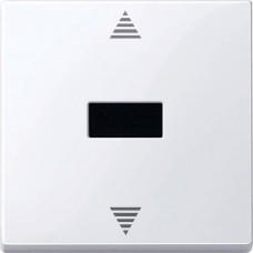 Кнопочный выключатель для жалюзи с ИК-приемником и подключением датчика Merten System M. Цвет Полярно-белый