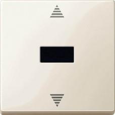 MTN588044 Кнопочный выключатель для жалюзи с ИК-приемником и подключением датчика Merten System M. Цвет Бежевый