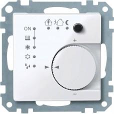Терморегулятор KNX с 4- кнопочным интерфейсом Merten System M. Цвет Активный белый MTN616725