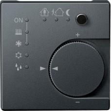 Терморегулятор KNX с 4- кнопочным интерфейсом Merten System M. Цвет Антрацит MTN616814