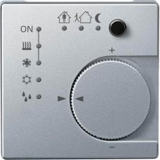 Терморегулятор KNX с 4- кнопочным интерфейсом Merten System M. Цвет Алюминий MTN616860