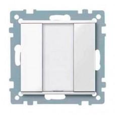 1-кнопочный выключатель KNX plus Merten System M. Цвет Активный белый MTN617125
