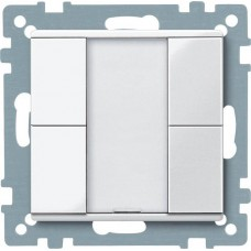 2-кнопочный выключатель KNX plus Merten System M. Цвет Активный белый MTN617225