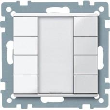 4-кнопочный выключатель KNX plus Merten System M. Цвет Активный белый MTN617425