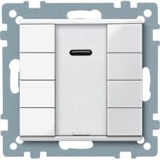 4-кнопочный выключатель KNX Plus с ИК-приемником Merten System M. Цвет Активный белый MTN617525