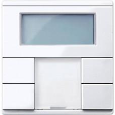 2-кнопочный выключатель с терморегулятором KNX plus Merten System M. Цвет Активный белый MTN6212-0325