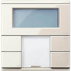 2-кнопочный выключатель с терморегулятором KNX plus Merten System M. Цвет Бежевый MTN6212-0344