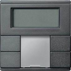 2-кнопочный выключатель с терморегулятором KNX plus Merten System M. Цвет Антрацит MTN6212-0414