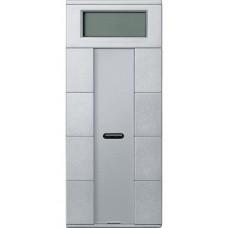 4- кнопочный выключатель с терморегулятором KNX plus Merten System M. Цвет Алюминий MTN6214-0460