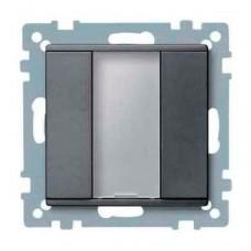 1-кнопочный выключатель KNX plus Merten System M. Цвет Антрацит MTN627514