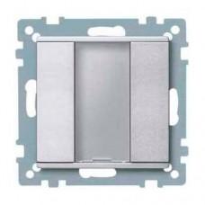 1-кнопочный выключатель KNX plus Merten System M. Цвет Алюминий MTN627560