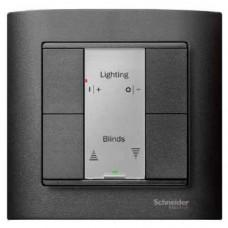 2-кнопочный выключатель KNX plus Merten System M. Цвет Антрацит MTN627614