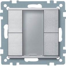 2-кнопочный выключатель KNX plus Merten System M. Цвет Алюминий MTN627660