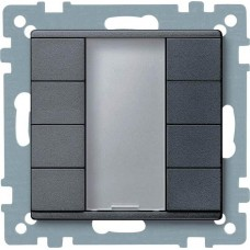 4-кнопочный выключатель KNX plus Merten System M. Цвет Антрацит MTN627814