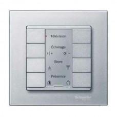 4-кнопочный выключатель KNX plus Merten System M. Цвет Алюминий MTN627860